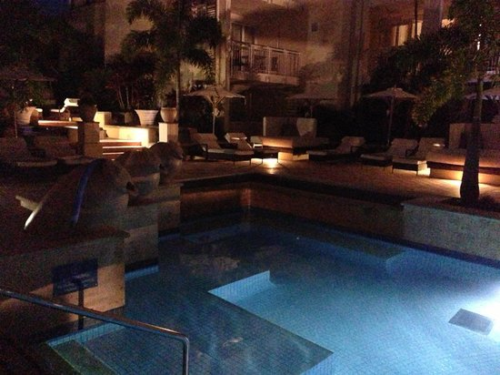 The Sebel Noosa: One of the pool areas at night