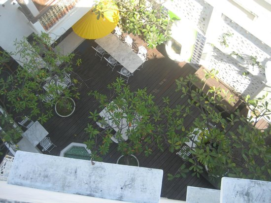 At Niman Conceptual Home: over the balcony