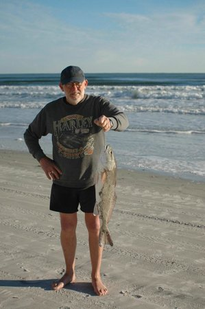 Tropical Winds Oceanfront Hotel: Red Fish caught on the beach