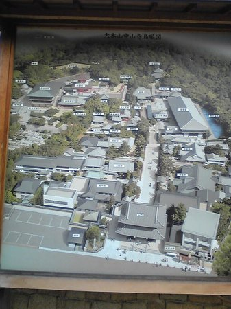 Nakayama-dera: 寺全体の鳥瞰図