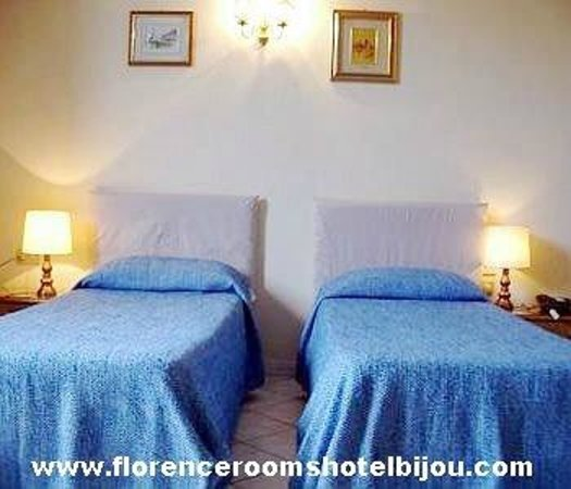 www.florenceroomshotelbijou.com -  Hotel Bijou's twin room