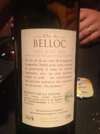 Spectrum: vin rouge maison, tres bon