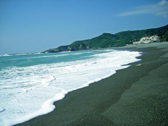 Rivage Spa Hikigawa: 志原の海岸から見た施設