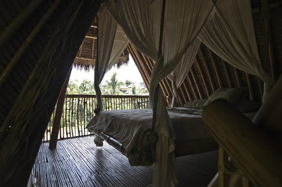 Bamboo Village Le Sabot Ubud : upstairs bedroom