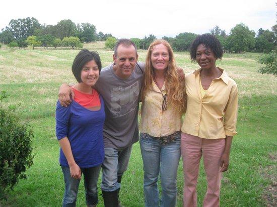 El Galope Farm & Hostel: Miguel, Monica, Marcia e Mel (quantos nomes com M, hehe)