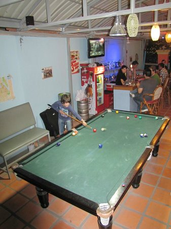 Blue Dog Guesthouse : Playing some pool.