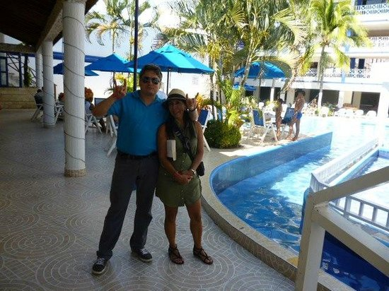 Sol Caribe San Andres: en la piscina del hotel
