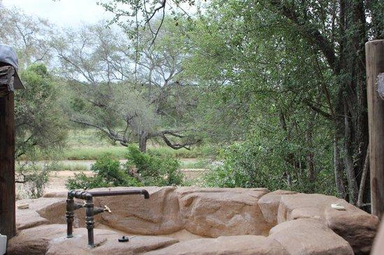 Pondoro Game Lodge: Ausblick aus der Suite auf den Olifants-River