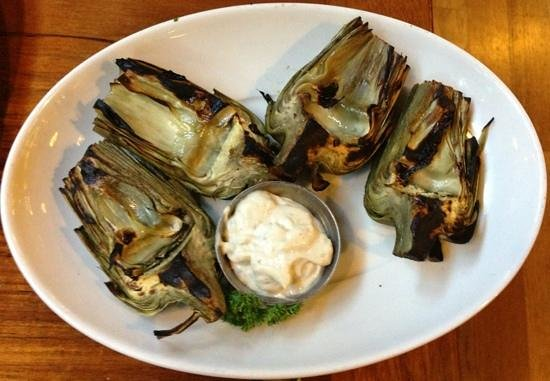 The Fish Market: grilled artichokes