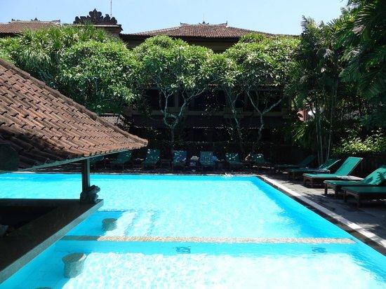 Hotel Puri Bambu: Piscine avec bar