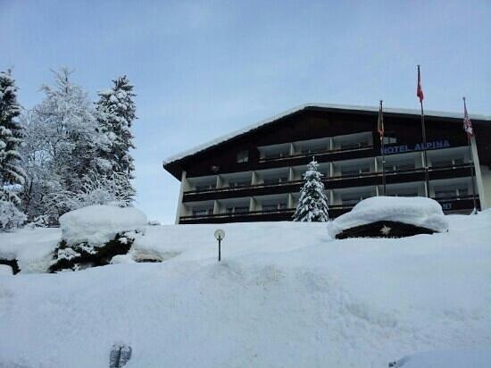 Hotel Restaurant Alpina Grindelwald: Front of Hotel Alpina