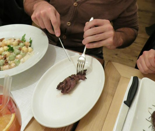 Ristorante Alegra: gnocchi with cheese and a taste of cangoroo