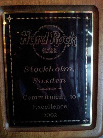 Hard Rock Cafe : plaque