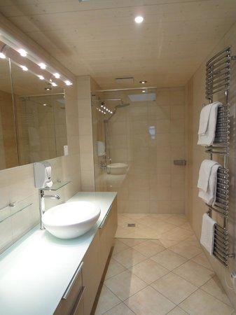 Hotel-Restaurant de la Rouvenaz: bagno della camera