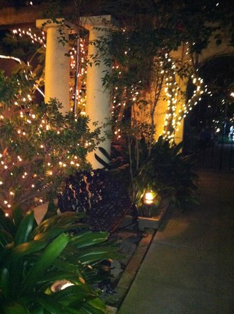 The Bed & Breakfast Inn at La Jolla: Walk way at night