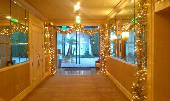 The Beverly Hilton : one of the corridors