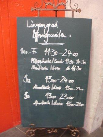 Langengrad: Info of the restaurant