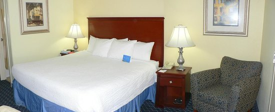 Baymont Inn & Suites Savannah Midtown: Bed & easy chair