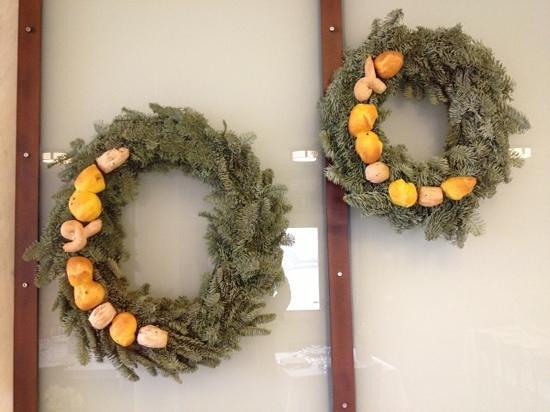 Agriturismo Casalia: Decorazioni natalizie con pane della casa