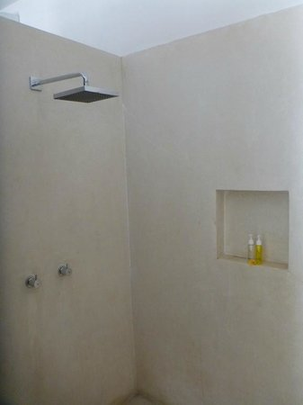 Villa Seminyak Estate & Spa: shower head with shampoo and body wash