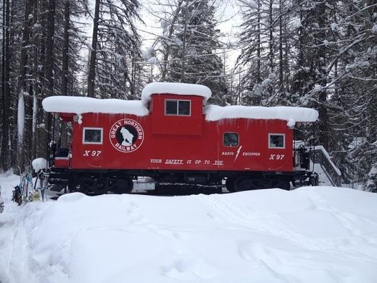 Izaak Walton Inn: we stayed in the newly remodeled caboose. It was first class