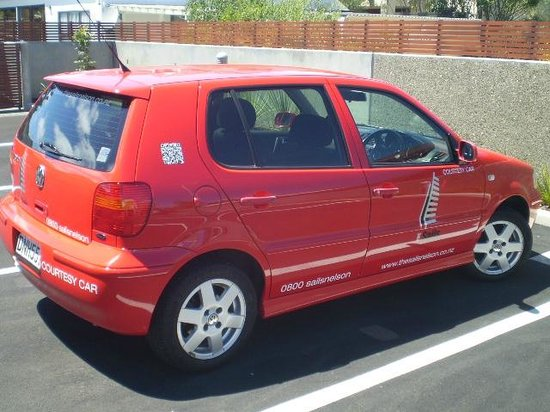 """The Sails Nelson: """" Big Red """" courtesy car."""