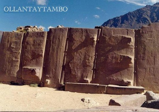 Soltemplet i Ollantaytambo: The temple of the Sun