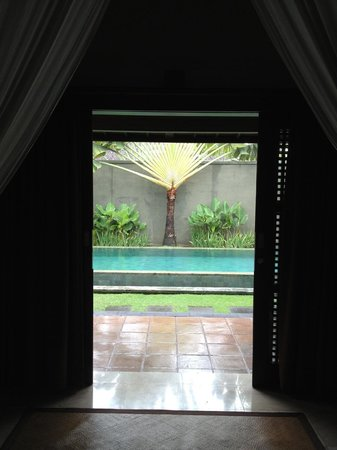 The Ulin Villas & Spa: view from bedroom