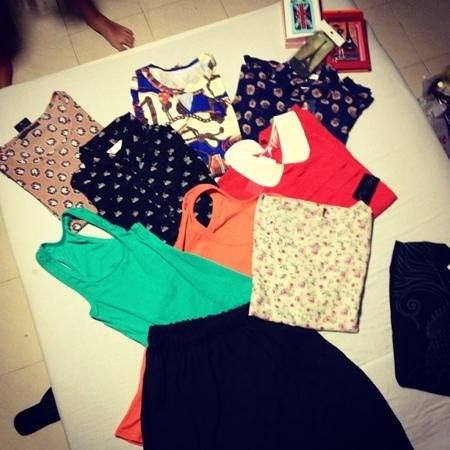 my loots tops and skirt from platinum fashion mall!