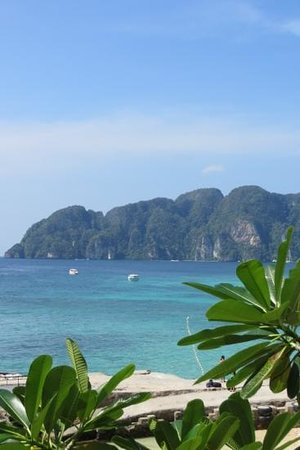 View from Phi Phi Hill resort - long beach