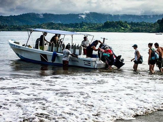 Jinetes de Osa Hotel: Diving boat