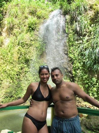 Sandals Regency La Toc Golf Resort and Spa: Waterfall on the Joe Knows Tour