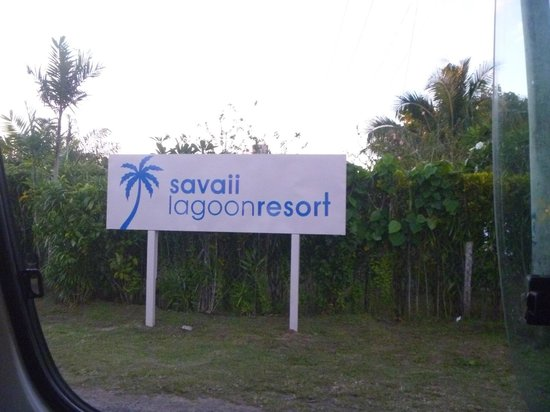 Savaii Lagoon Resort: Resort sign