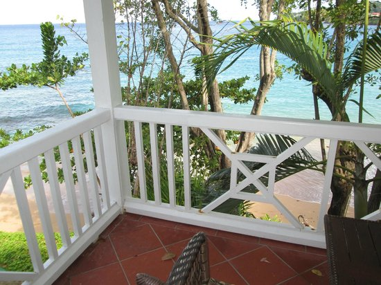 Sandals Regency La Toc: View from the balcony of the waters edge suite