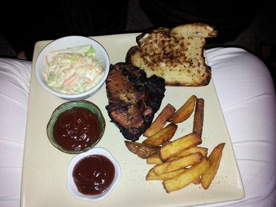 Hive Bar & Restaurant : One of the Hive specialties (smokehouse BBQ pork or something delicious!)