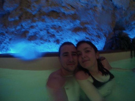 Le Clos de L'Hermitage : on a meme eu le droit au verre de bien venu dans la piscine.