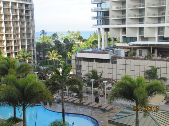 Embassy Suites by Hilton Waikiki Beach Walk: view from our balcony