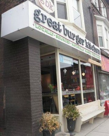 Close view of Great Burger Kitchen on 1056 Gerrard St E
