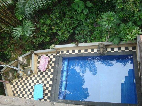 Bembengan Ubud Cottage: Вид на бассейн с 3 этажа
