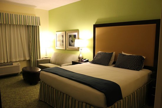 Holiday Inn Express & Suites Dickson City-Scranton : Room (however, polka dot pillows are mine, not hotel issued)