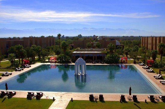 Sahara Palace Marrakech: Pool and the Atlas Mountains in the background