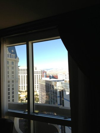Paris Las Vegas: view from window in room