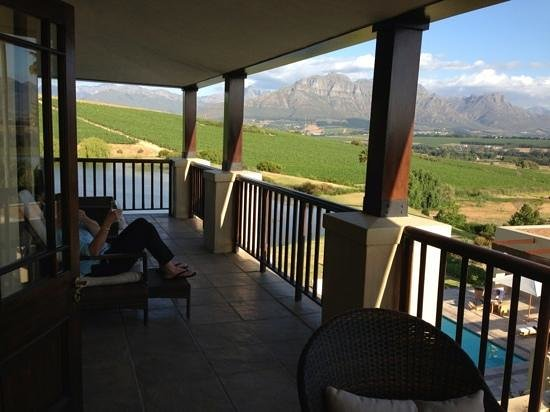 Asara Wine Estate & Hotel: our veranda