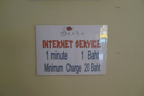 Seeka Boutique Resort: Internet service