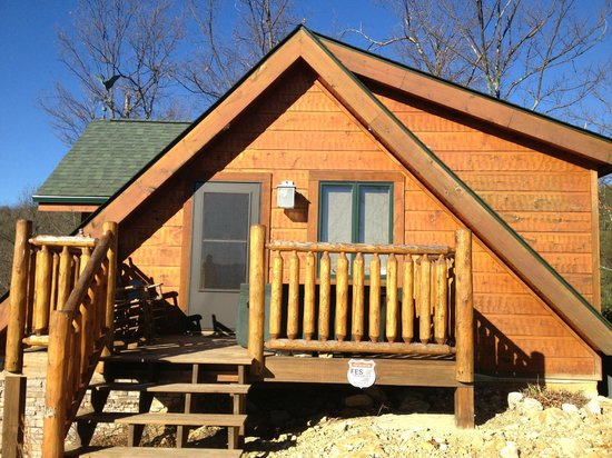 Chilhowee Mountain Retreat: Private porch with hot tub off Forest View Room