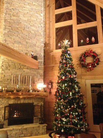 Chilhowee Mountain Retreat: Living Room - Fireplace & decorations