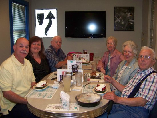 Route 104 Diner: The wild bunch stuffed but having dessert