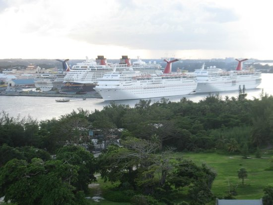 Atlantis, Coral Towers, Autograph Collection: view from our suite of downtown Nassau