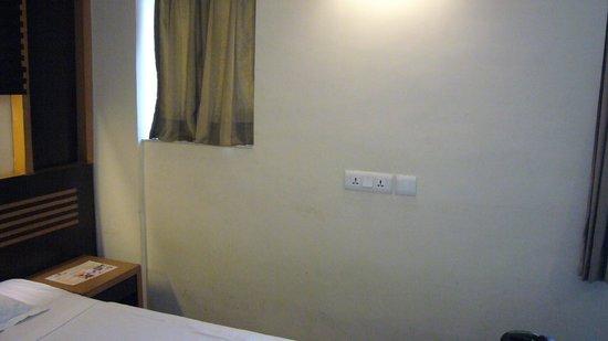 Mangalam Hotel: exemple d'un des murs de la chambre