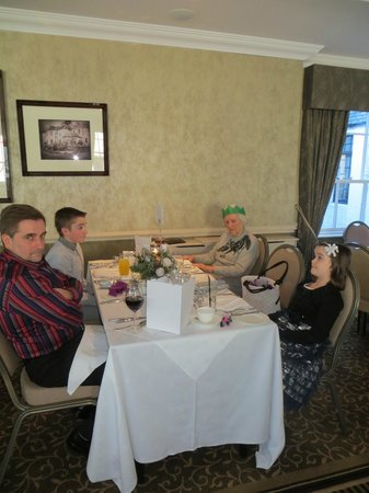 Banchory Lodge: our table